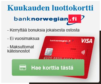 Kuukauden luottokortti
