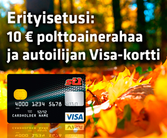 Hae autoilijan St1 Visa-korttia tästä